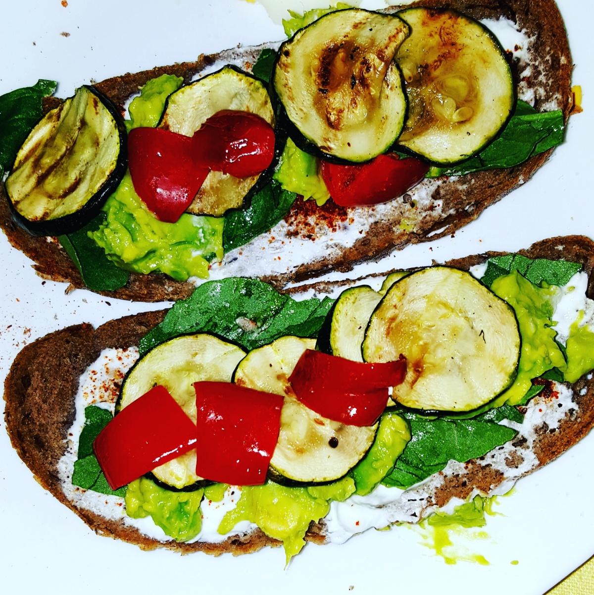 Rye Bread Open Sandwich
